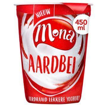 Mona Verdraaid lekkere yoghurt aardbei (450g)