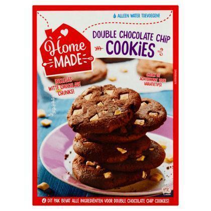 Pakket voor double chocolate cookies (445g)