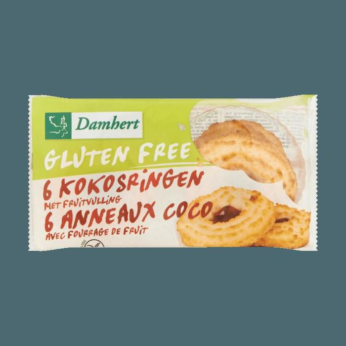 Damhert Glutenvrije Kokosringen met Fruitvulling 6 Stuks 240g (240g)