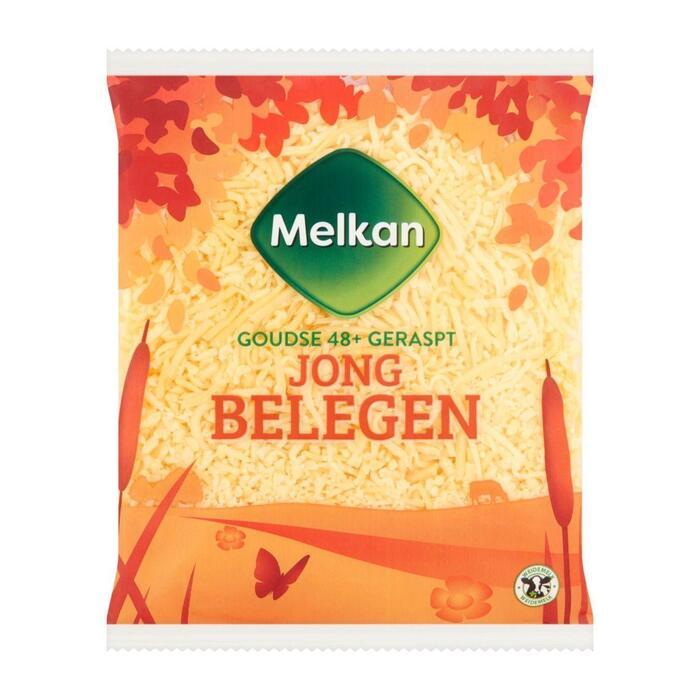 Melkan Jong belegen 48+ geraspte kaas (175g)