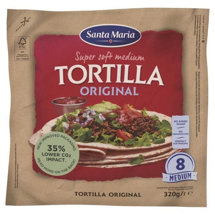 Original soft Tortilla (8 × 320g)