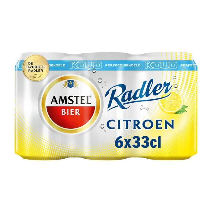 Amstel Radler lemon gekoeld blik 6 x 33 cl (6 × 1.98L)