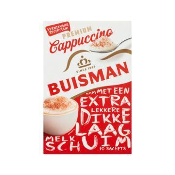 Buisman Premium Cappuccino Portieverpakking UTZ 10x12,5g (125g)