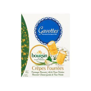 GAVOTTES GEVULDE WAFELTJES BOURSIN CHEESE GARLIC & FINE HERBS 60 G DOOS (60g)
