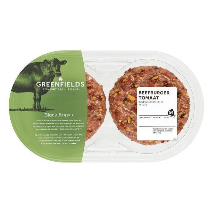 AH Greenfields beefburger tomaat (2 × 270g)
