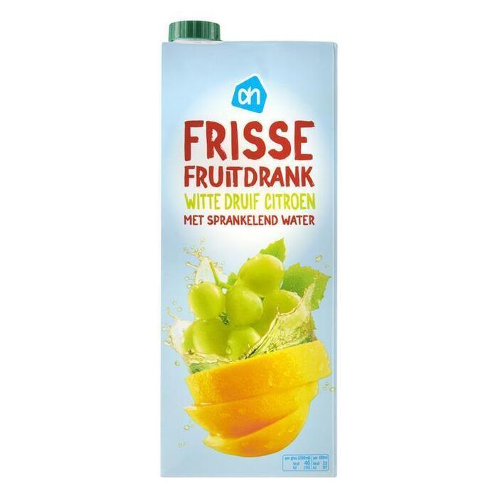 Frisse Fruitdrank, witte druif & citroen (pak, 1.5L)