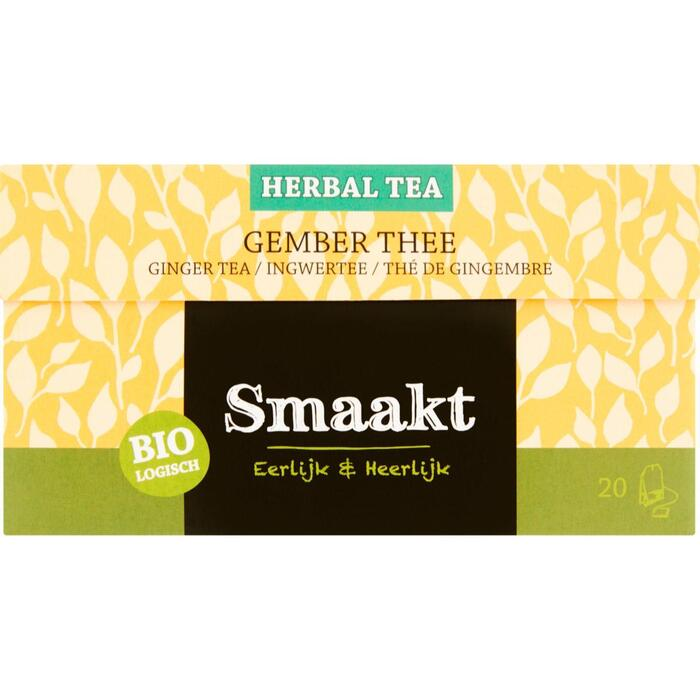 Smaakt Gember thee (20 × 30g)