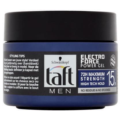 Taft Men Power Gel Electro Force Hold 15 250 ml (250ml)