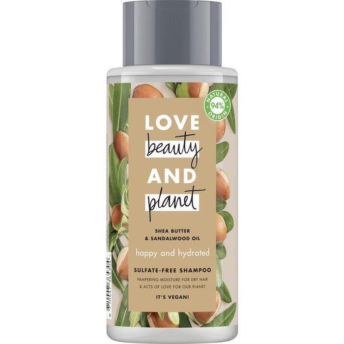 Love Beauty Planet Shea butter & sandalwood shampoo (40cl)