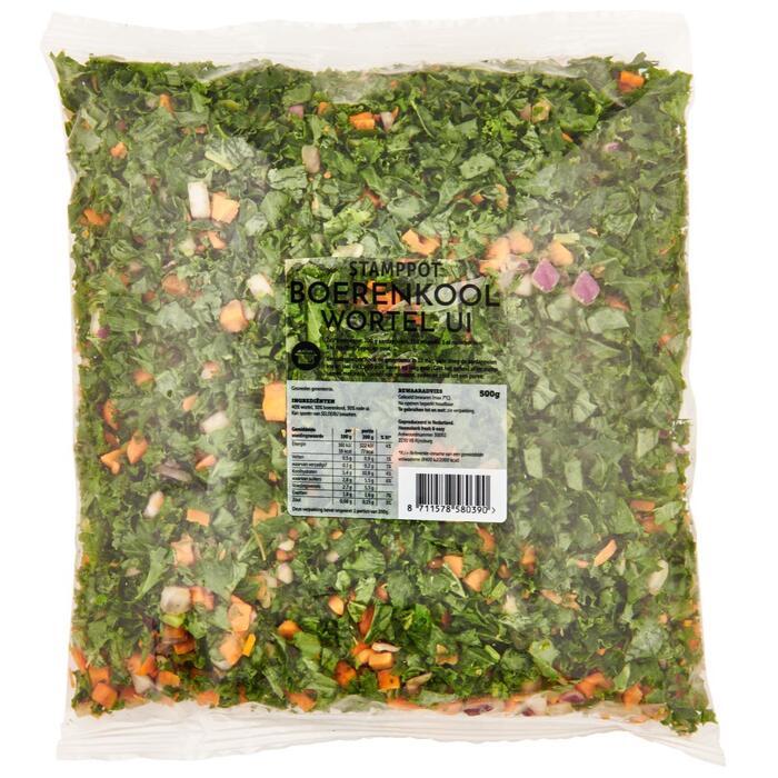 Stamppot boerenkool wortel (500g)