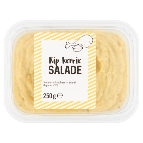 Jumbo verpakte salades kip-kerrie 250g beker/kuipje (250g)