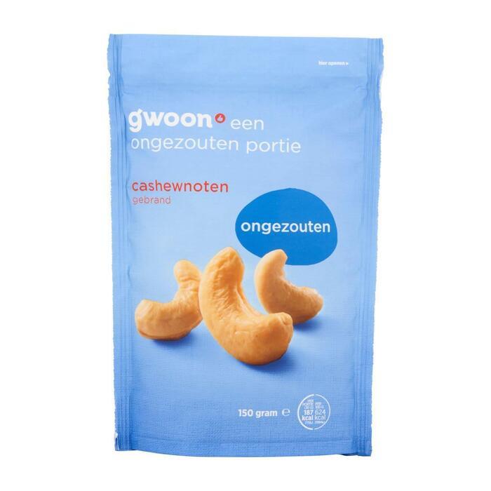 g'woon Cashewnoten ongezouten (150g)