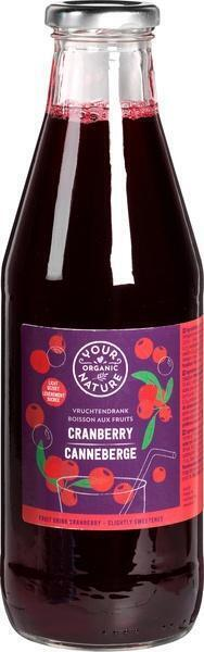 Cranberry Siroop (fles, 0.5L)