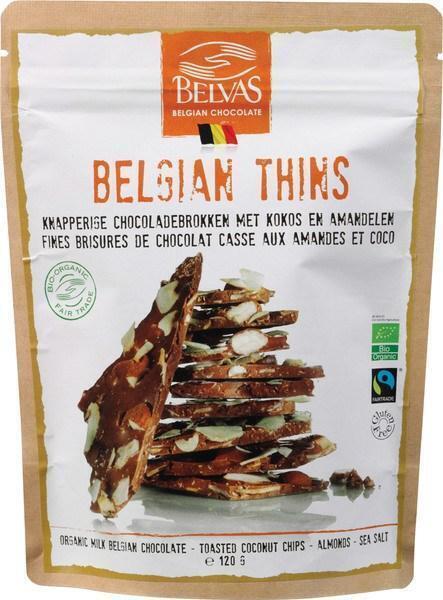 Belgian thins kokos-amandelen (120g)