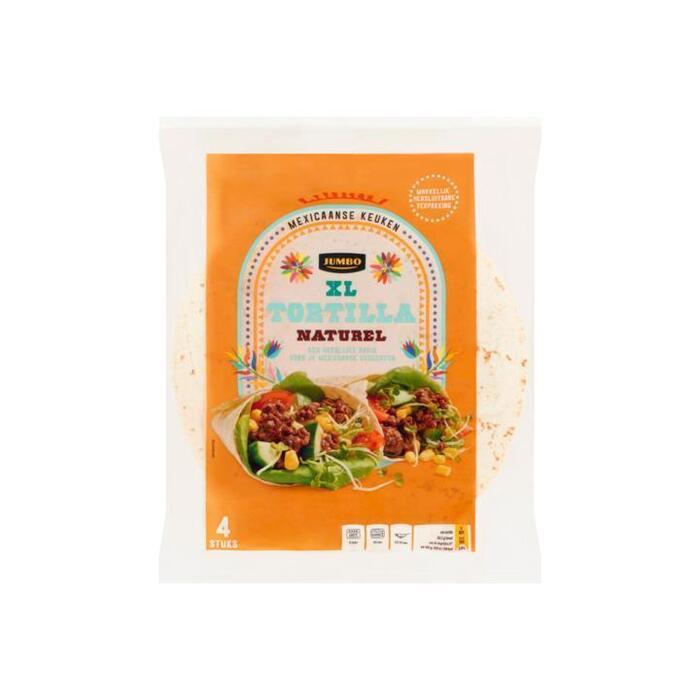 Jumbo Tortilla Naturel XL 4 Stuks 250 g (200g)
