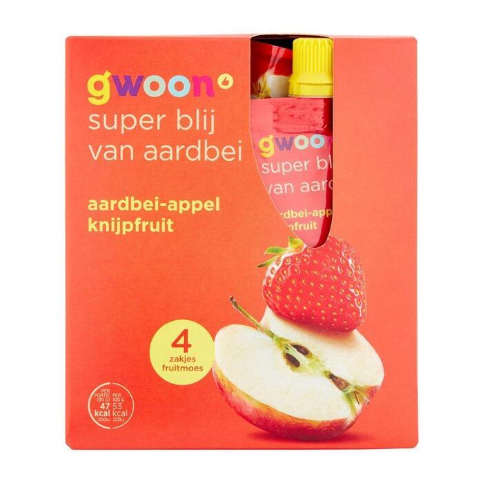 g'woon Knijpfruit appel-aardbei (360g)