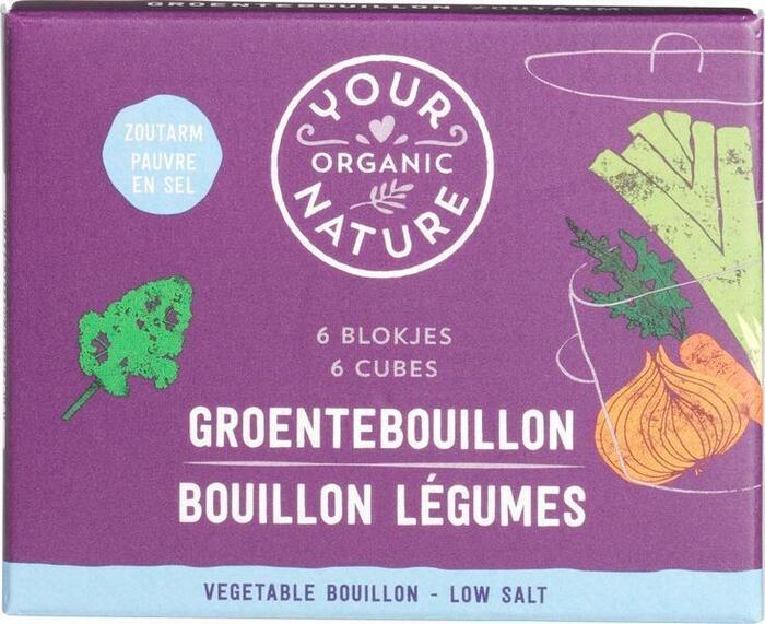 Heldere groentebouillonblokjes zoutarm (60g)