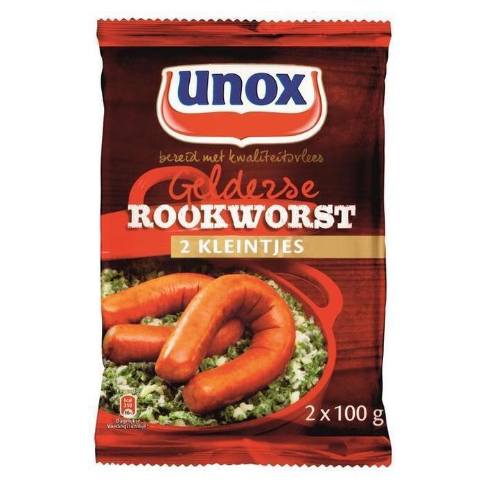 Unox Gelderse Rookworst 2 x 100g (2 × 100g)