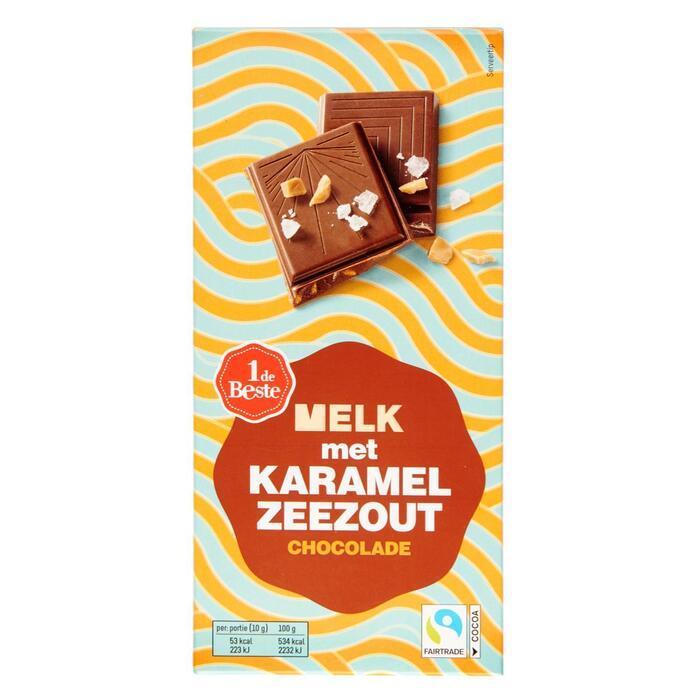 Chocoladereep melk karamel zeezout (100g)
