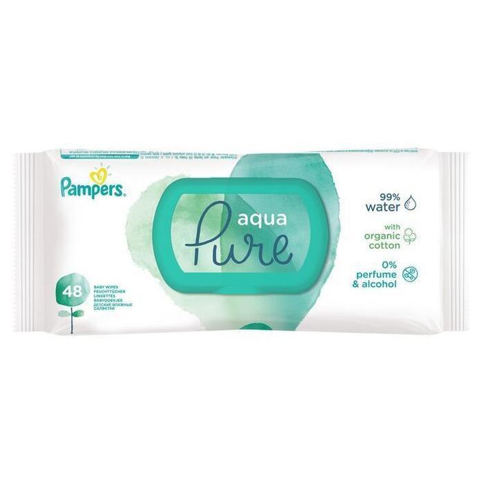 Pampers Aqua Pure Babydoekjes 1 Verpakkingen = 48 Babydoekjes