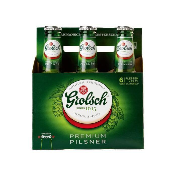 Grolsch Premium Pilsner Pilsners 25cl fles (glas, 6 × 250ml)