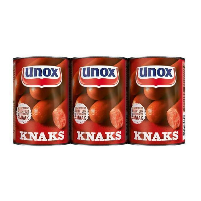 Unox Worst knaks 3 pak (3 × 400g)