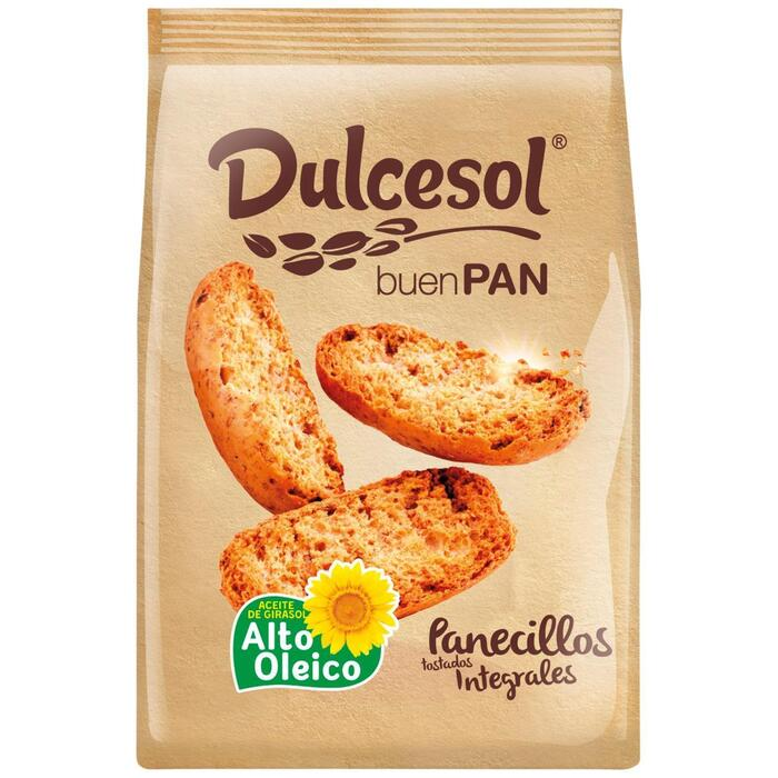 Dulcesol toastjes crackers Panecillos Tostados Integrales 200g zakje (200g)