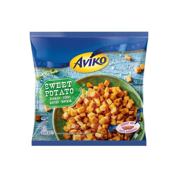 Zoete aardappelblokjes (zak, 450g)