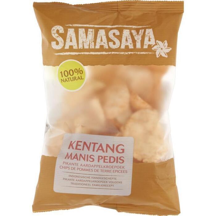 Authentic Balinese Kentang Manis Pedis Pikante Aardappelkroepoek (zak, 70g)