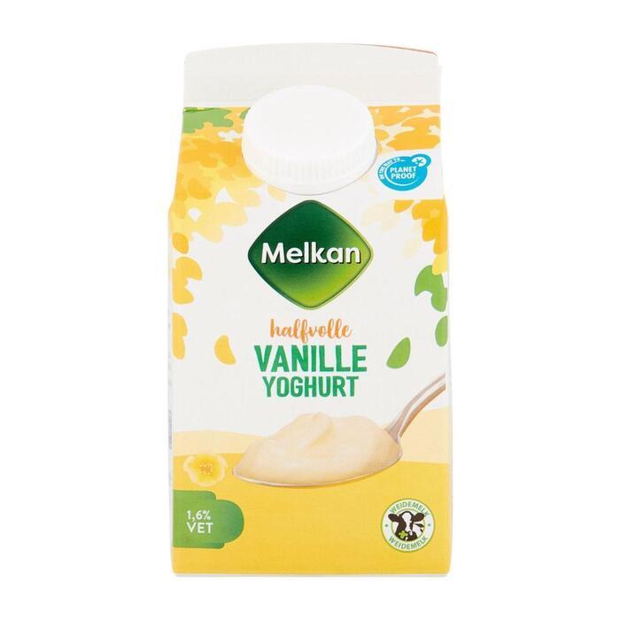 Melkan Halfvolle vanille yoghurt (0.5L)