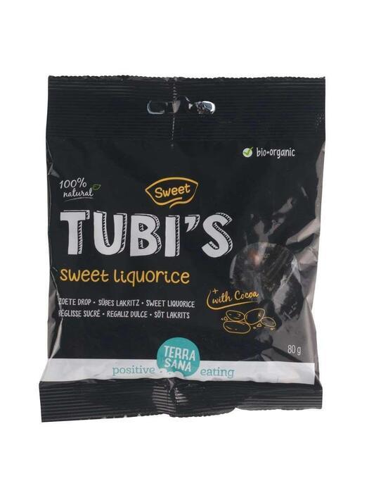 Tubi's Cacao - Zoete drop TerraSana 80g (80g)