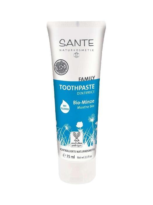 Family Tandpasta Bio-Mint, met fluoride SANTE 75ml (75ml)