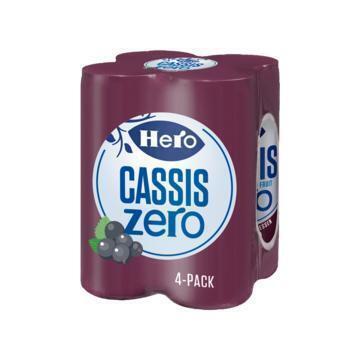Hero Cassis zero (4 × 250ml)