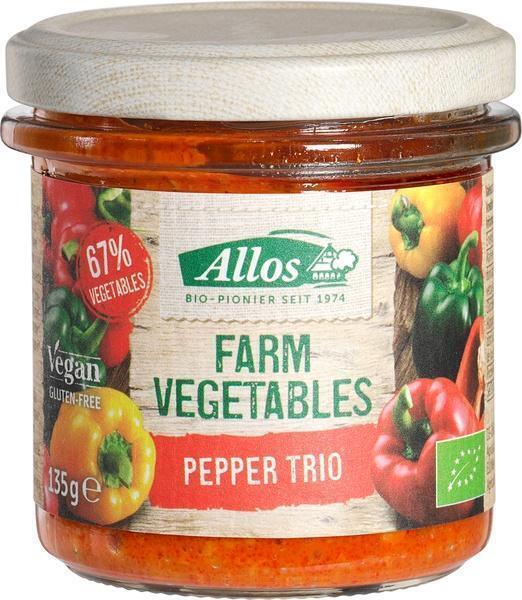 Farm Vegetables peper-trio spread (135g)