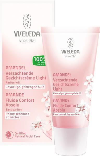 Amandel verzachtende gezichtscrème light (30ml)