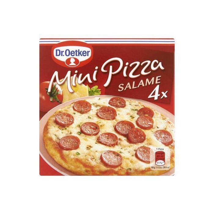 Mini Pizza Salame (Stuk, 4 × 80g)