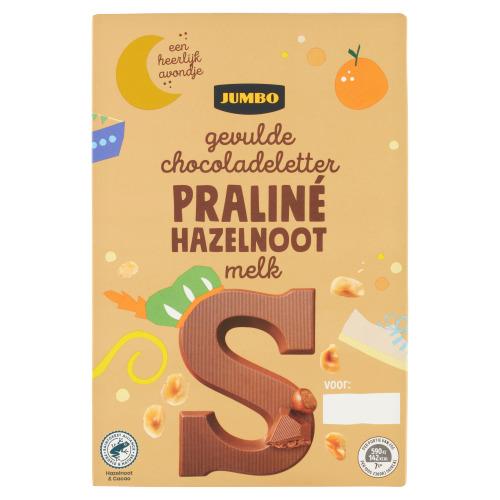 Jumbo Hazelnoot Praliné Chocoladeletter Melk S 150 g (140g)