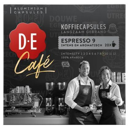 Douwe Egberts Café Espresso 9 Koffiecups 104 g (20 × 104g)