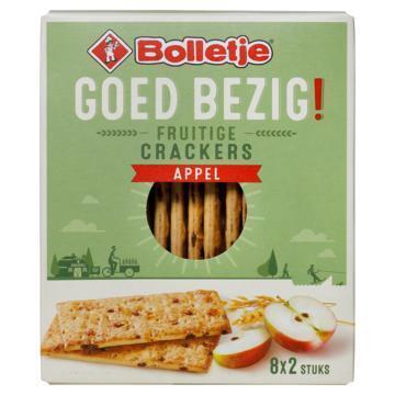 Bolletje Goed bezig fruitige crackers appel (175g)