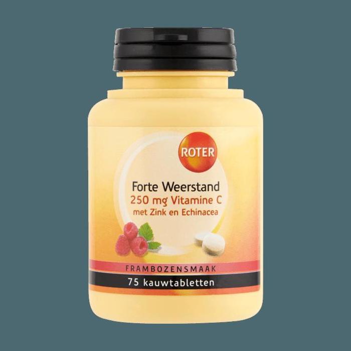 Roter Vitamine C Forte Weerstand 75 kauwtabletten (75 × 0.25g)