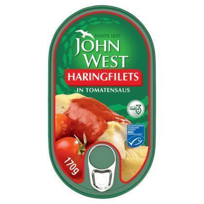 Haringfilets in Tomatensaus (blik, 170g)