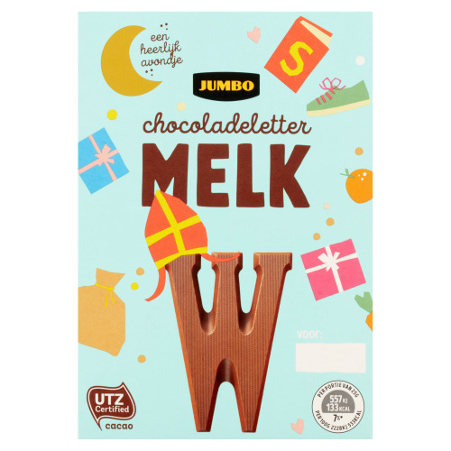 Jumbo Melkchocolade Letter W 65 g (65g)
