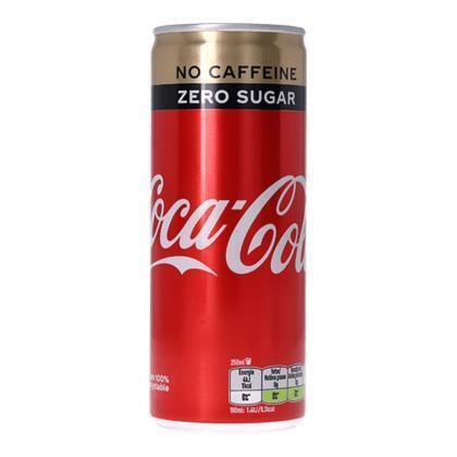 Coca-Cola Zero Caffeine-vrij Blik 0.25L 1x (rol, 25 × 62.5ml)