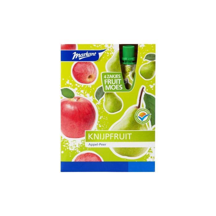 Knijpfruit Appel-Peer (doos, 400g)