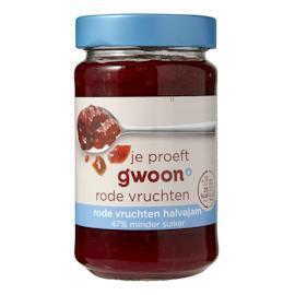 g'woon Rode Vruchten Halvajam 320 g (Stuk, 320g)