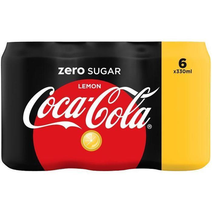 Coca-Cola Zero Lemon Blik 0.33L 6x (6 × 33cl)