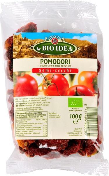 Zacht gedroogde tomaten (100g)