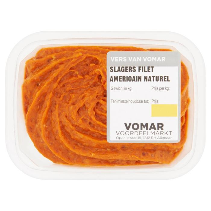 Vomar Slagers Filet Americain Naturel 150 g (Stuk, 150g)