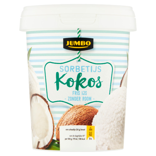 Jumbo Sorbetijs Kokos 500 ml (0.5L)