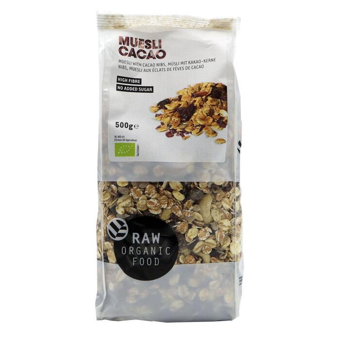 RAW Organic Food Muesli cacao (500g)